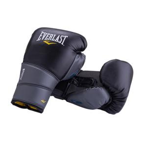 Перчатки боксерские Protex2 GEL, к/з, черные Everlast