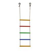 Лестница веревочная 5 перекладин радуга