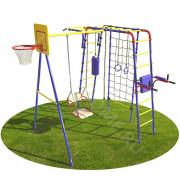 Детская Спортивная Площадка Юниор с сеткой Турникхоум